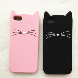 Wholesale Iphone Plastic Silicon - For Iphone 7 Plus Iphone 6 6s Plus 5 5s se Case KOKO Cat 3D Silicon Lucky Case Cover