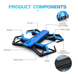 Wholesale Wireless Mini Cameras Wholesale - 10pcs JJRC H43WH H43 Selfie Elfie Wireless FPV With 720P Camera Altitude Hold Headless Mode Foldable Arm RC Racing Aircraft Mini Drone