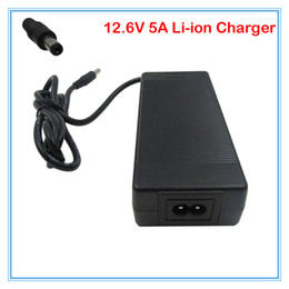 Wholesale Lithium Charger 12v - 12.6V 5A Lithium battery charger 12V 5A power adapter For 3series 10.8V 11.1V 12V Li-Po battery pack Charger DC 5.5 * 2.1 mm