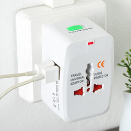 Wholesale Universal Switching Adapter - Universal USB Global Plug Adapter Switch Plug usb Travel AC Power Charger Adaptor with AU US UK EU converter Plug with package