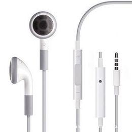 Wholesale Earphone 4s Iphone Mic - Headphone Headset 3.5mm with Mic Earphones for iphone 4 4S IPHONE 6 6G 5 5G 5S 5C