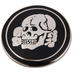 Wholesale Metal Needles - SMALL ELITE PANZER TANK SKULL METAL BADGE-32792