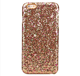 Wholesale Iphone Sparkle Skin - Bling Sparkle Glitter Sequin phone cases for iphone 8 8plus 7 7plus 6 6s coque PC Hard Plastic protective back cover skin shell