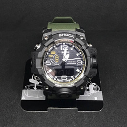Wholesale Orange Digital Clock - New Shock Style Skmei Men Big Dial Sports Watches Multifunction Chronograph Resistant Army Clock Date Digital Wristwatches