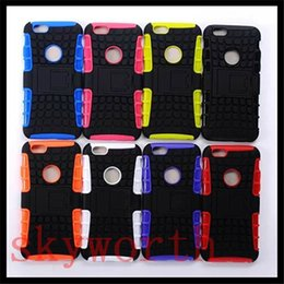 Wholesale Iphone 5s Cases Durable - For Samsung Galaxy S8 Plus S6 S7 edge Note 4 Hybrid Heavy Duty Durable Defender Kickstand Cases For iphone 5S 6 6S Plus