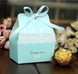 Wholesale Sweet Love Favour Box - Wholesale- Free Shipping 100pcs lot Sweet Love Wedding Favor Candy Box Baby Shower Favour Party Supplies