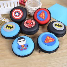 Wholesale Small Avengers Cartoon - AVENGERS Cartoon Canvas Coin Purse Multi Function Headset Storage Box Small Mini Wallets Coin Pocket Bag Whosales CP-01