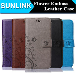Wholesale Lg Flip Phone Cases - leather phone case Flower Embossing PU Wallet Flip Cover Card Slot for iPhone X 8 6S Plus Galaxy S8 S7 Edge LG G6