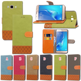 Wholesale Apple Canvas - Canvas Diamond Jean Wallet Leather Pouch Case For Iphone X Samsung Galaxy S9 NOTE 8 MOTO G5 G4 LG G5 G6 Huawei P10 One Plus 5T Stand Cover