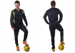 Wholesale Athletics Clothing - Soccer Jersey Men's Sweater Jerseys Goalkeeper Long Sleeve Shirt Short Pants Athletic Adult Football Trainning Clothing Fast Shipping