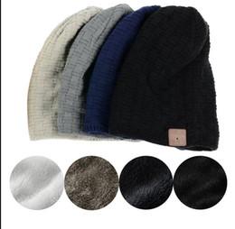 Wholesale Outdoor Headset - Fashion Beanie Hat Cap Wireless Bluetooth Earphone Smart Headset Speaker Mic Winter Outdoor Sport Stereo Music Hat KKA2843
