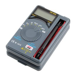 Wholesale Pocket Digital Mini Auto Range - Wholesale-Professional Hot Auto Range LCD Mini Voltmeter Tester Tool AC DC Pocket Digital Multimeter