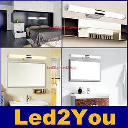 Wholesale Modern Mirror Sconce - Newly Designed Modern 8W 12W 16W 24W LED Bathroom Light Fixtures Mirror Wall light Indoor mirror-front Sconces lighting lamps