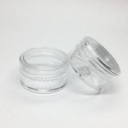 Pote de plástico transparente online-5gram Tarro plástico cosmético Base clara Crema vacía Pote de la muestra Tarro 5 ML Mini botella de plástico Nail Art Glitter Contenedor de polvo Caso