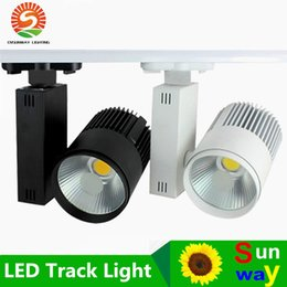 Wholesale LED COB Track Light W Rail Lights Spotlight lm w Clothes Shoes Shop Store Gallery Market Commercial Indoor Lighting