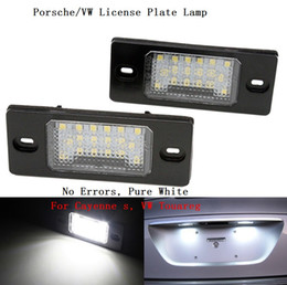 Discount vw led number - Canbus LED License number plate lamp light for VW Tiguan Touareg Golf5 5D Touring Passat B5 5D Touring Porsche Cayenne S 08-10