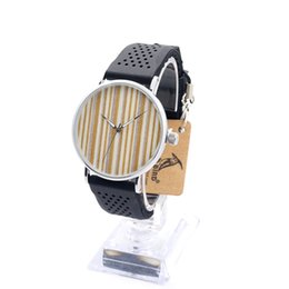Wholesale Designer Silicone Case - Brand Designer Wooden Watches Casual Stainless Steel Case Soft Silicone Band with Wood Dial Face Quartz Watch for Men Women as Gift