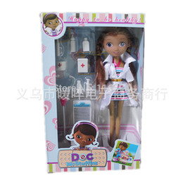 Wholesale Doc Girl - doll free shipping 27cm doc mcstuffins doll doctor toy set for girl gift original box package doctor accessories
