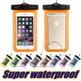 Wholesale pocket green - Dry Bag Universal Waterproof Case High Clear Camera Use Soild For Iphone X 10 8 7 Plus Samsung Galaxy Note 8 OPP Pack