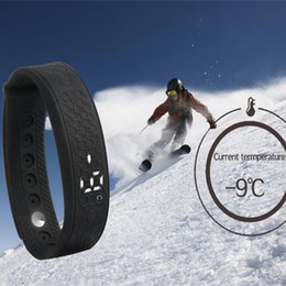 Wholesale Watch Real Time Tracker - Sport Bracelet H5S Heart Rate Monitor Smart Bracelet USB Watch LED WristBand Real Time   Calorie   3D Pedometer   Temperature