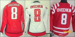 Wholesale Nhl Jersey Cheap - 2016 Cheap authentic sports jerseys kids Washington #8 Ovechkin Red White usa nhl Youth hockey jerseys Winter Classic Wholesale