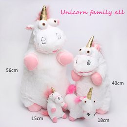 Wholesale Pink Stuffed Animals - Free shipping backpack unicorn plush toy backpack girl favorite toys 6-29 inch in the sotck pink and white kids toy Stuffed Plus Animals