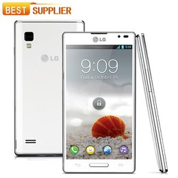 Wholesale Optimus L9 - P760 Original Phone Unlocked LG Optimus L9 P760 mobile phone Android 4.0 RAM 1GB ROM 4GB 5MP Camera Phone One Year Warranty