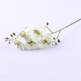 """Wholesale Artificial Orchid Arrangement - Silk Fake artificial flower phalaenopsis orchid flowers in cream white green -30 """"Tall for lavender wedding romantic arrangement home decro"""
