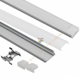 Argentina tira llevada 1m 1.5m 2m perfil de aluminio para 5050 5630 barra llevada barra llevada de luz LED canal de aluminio con tapa cubre los clips de la tapa supplier led strip cap Suministro