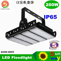 Wholesale Thin Led Flood Lights - Ultra thin finned radiator LED floodlight 200W LED flood lights IP65 water proof high-pole lamps AC85-265V 3years warranty projector light