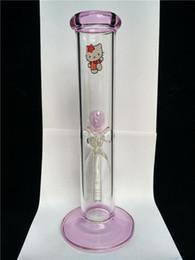 tubos de vidro menina Desconto dom meninas bong rosa Olá vidro gatinho bong águas abaixo, direto de água de vidro base de cachimbos de espessura infiltrar bongs de vidro