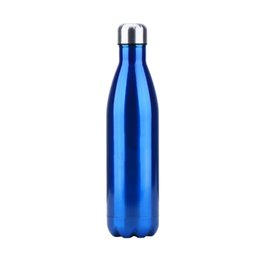 Wholesale Mixing Drinks - 750Ml Water Bottle Stainless Steel Sports Water Bottle Thermos Bottles Perfect For Sports Running Yoga Travel Gifts Mixed Color