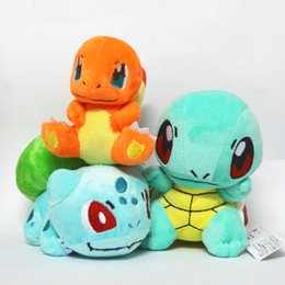 Wholesale Pokemon Charmander Plush - 15cm 6inch Poke Plush Dolls Charmander Squirtle Bulbasaur Cartoon Figures Stuffed Animals Toys For Kids children XMAS Gifts