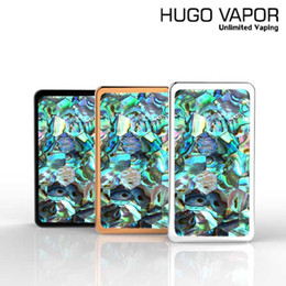 Wholesale Wholesale Fasion - Authentic Honey Hive 80W HUGO VAPOR HoneyHive Mod E Cigarette Vape Mods With Real Abalong Shell Fasion E Cigs