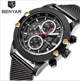 Wholesale Chinese Watches - New luxury quartz watch men - stainless steel watch band sports watch Chinese quartz movement free delivery