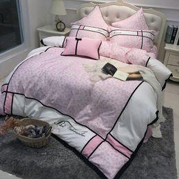 Wholesale Leopard Print Full Comforter Set - Pink leopard luxury women Bedding Set king queen size duvet cover egyptian cotton girls cute bed sheet set bed room set pillow