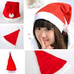 Wholesale Santa Hats For Kids - Christmas Santa Hats Red And White Cap Party Hats For Santa Costume Christmas Decoration for kids adult Christmas Hat IC718