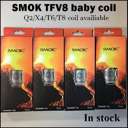 2019 bobina q2 100% autêntico TFV8 bebê Q2 X4 T6 bobinas T8 núcleo V8 baby-Q2 bebê-T4 bebê-T6 bobina de bebê-T8 para TFV8-baby atomizador original presente de natal desconto bobina q2
