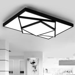 Atenuación moderna Lámpara de techo cuadrada LED Lámpara de techo colgante cuadrado Iluminación para sala de estar de un dormitorio AC 85-260V desde fabricantes