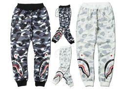 Wholesale Camo Panels - Latest TOP KANYE WEST camouflage camo oversized men joggers pants hip hop shark Pink Fashion pants S-XL