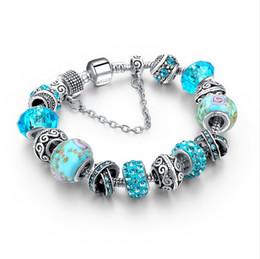 Wholesale Silver 925 Bracelets Chains - 2016 Jewellery European Charm Bracelets Brands For Women 925 Silver Chain Bracelets & Bangles DIY Jewelry Pulseras Lot Free Shipping