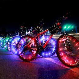 e230bd52d48 Bike Bicycle Cycling Spoke Wire Tire Tyre Wheel LED Bright Light MTB Bike  Bicycle Spoke Reflector Stripe Lights bright bike lights wheels promotion