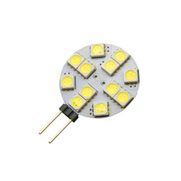 Wholesale Car Indoor Light Bulb - G4 2.4W Led bulbs 12led SMD 5050 DC 12v LED indoor CAR lighting g4 halogen replacement Bulb lights