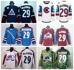 Wholesale Classic Men S Fashion - 2016 Colorado 29 Nathan MacKinnon Avalanche Jerseys Ice Hockey Nathan MacKinnon Jersey Men Fashion Winter Classic Navy Blue White Red Camo