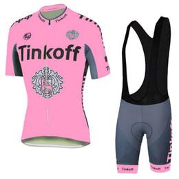 Wholesale Short Sleeve Bike Jersey Woman - Tour De France 2016 Tinkoff Saxo Bank Pink Cycling Jerseys Bike Bicycle Wear Bib Shorts Sleeves Women Cycling Jerseys Set