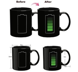 Wholesale Magic Colours - Color-Changing Mugs Magic Cup Ceramic Temperature induction Mugs Change Colour Coffee Cups Creative Heat Cold Temperature Sensitive Free DHL