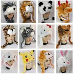 Wholesale kids plush beanie cap - Fashion Caps Plush Hats Mens Womens Kids costume skullies & beanies children kids winter plush warm cosplay hat