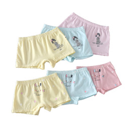 Wholesale Wholesale Girl Boxer - 6 colors Girls sweet printing boxers Kids cotton printing underwears cute girl printing panties 5 sizes Children underwears for 1-8T