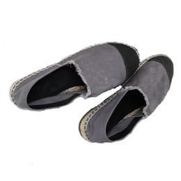 Wholesale Thin Denim Fabric - New Arrival Flat Canvas Denim Classic Thin Sole Espadrilles Women's Flat Shoes 10 colors size 35-42