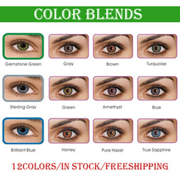 Wholesale Dhl Freeshipping - Free Shipping by DHL need 3-5 working days Ready Stock 3-tone fresh colorblend contact lenses Wholesale Color Contacts 1 pair = 2 pieces